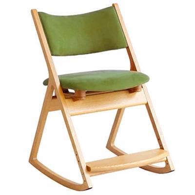 【ふるさと納税】ロッキングデスクチェア(グリーン) 【椅子/家具・イス・かぐ】