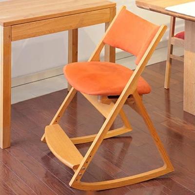 【ふるさと納税】ロッキングデスクチェア(オレンジ) 【ロッキングチェア/家具・椅子・いす・イス】