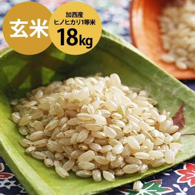 【ふるさと納税】令和元年産 加西産ヒノヒカリ1等米 18kg(玄米) 【お米・ヒノヒカリ・おこめ】 お届け:2019年10月下旬~2020年10月中旬