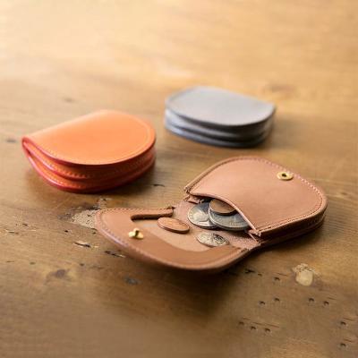 【ふるさと納税】イタリアンレザー丸型コインケース 【雑貨・日用品・ファッション小物・財布】