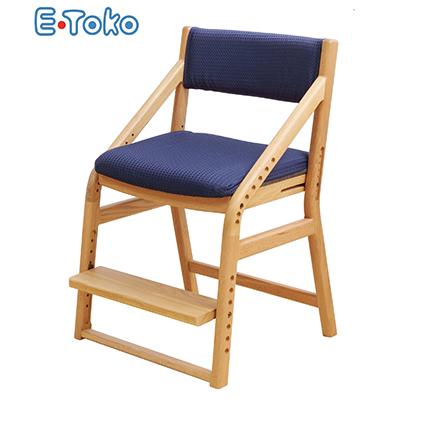 【ふるさと納税】E-Toko 子供チェア ナチュラル(カバー付/ブルー) 【雑貨・日用品・インテリア・ファッション】