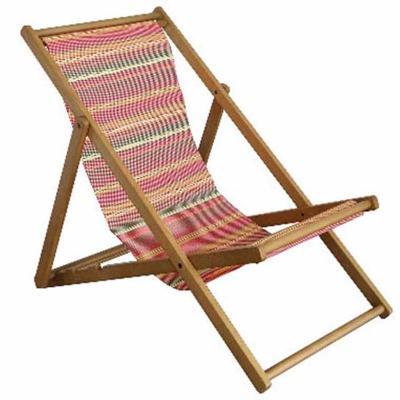 【ふるさと納税】LUFT Deck Chair 縞梅花 【織物・インテリア・ファッション・椅子・イス・デッキチェア】