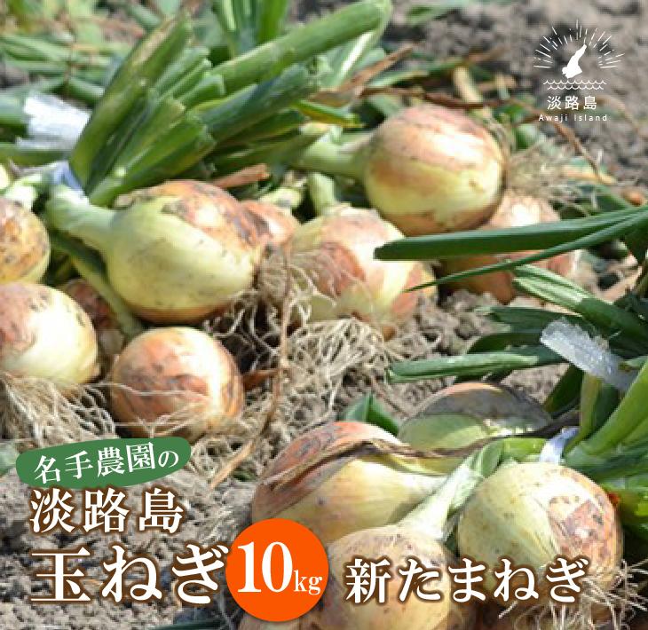 【ふるさと納税】【新たまねぎ】名手農園の淡路島特産玉ねぎ10kg