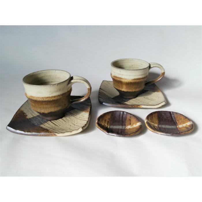 【ふるさと納税】AM2 コーヒーカップ&ソーサーと豆皿のセット
