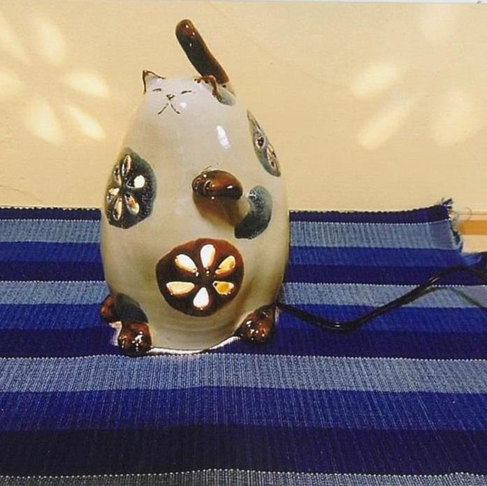 【ふるさと納税】AD7 招き猫の陶灯