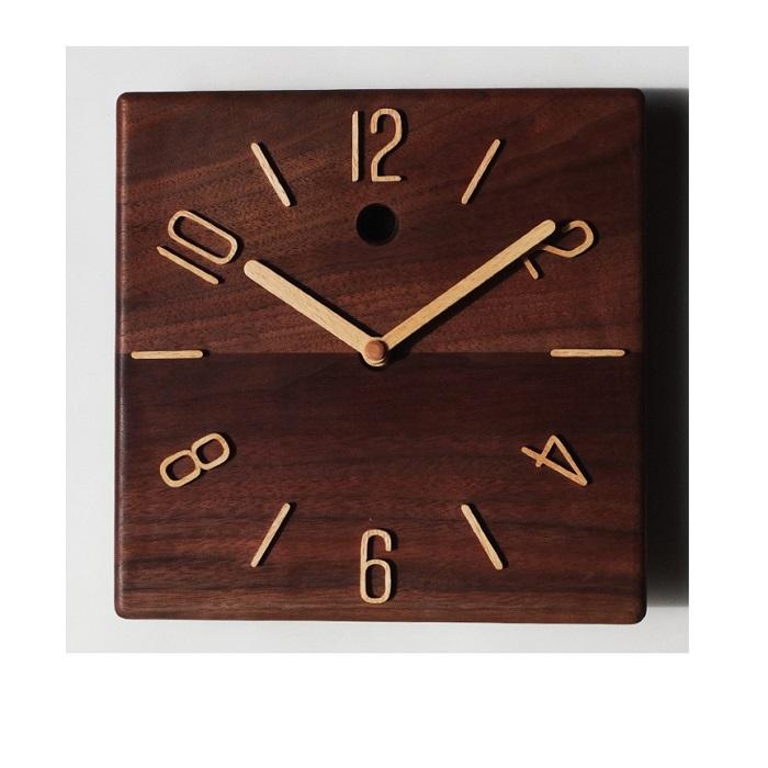 【ふるさと納税】30-P9 掛け時計 ウォールナット