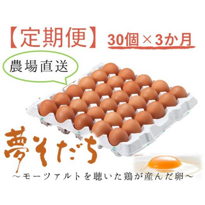 【ふるさと納税】G-75 夢そだち卵30個×3か月定期