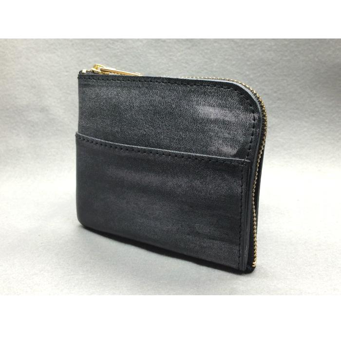 ふるさと納税 G-40 L型ミニウォレット 財布 ブラック 特価 ブライドルレザー 牛革 新色追加
