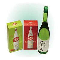 【ふるさと納税】309 満寿泉からくちとキットカット日本酒・梅酒セット