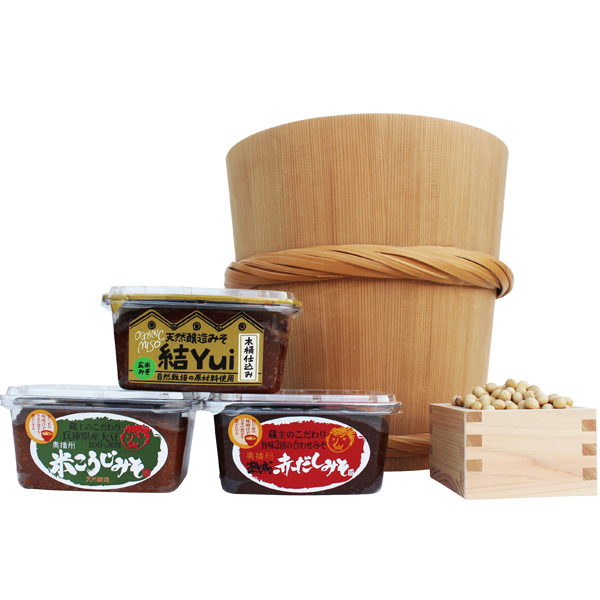 創業130有余年 多可の地で醤油と味噌を造り続けている蔵元で造られた こだわりの伝統の味を詰合わせました ふるさと納税 結 513木桶仕込み 至高 とこだわり味噌詰め合わせ 自然栽培みそ 日本正規代理店品