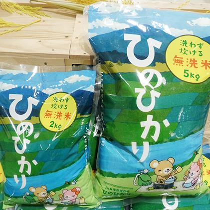 【ふるさと納税】【令和元年新米】無洗米ひのひかり 7kg 【お米・お米・米・無洗米】 お届け:2020年9月30日まで