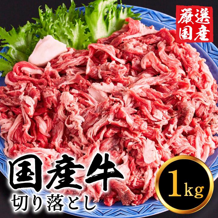 【ふるさと納税】010AA08N. 国産牛 切り落とし 1kg