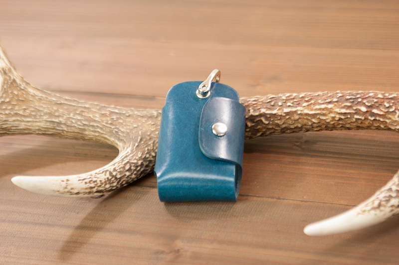 【ふるさと納税】WH-09-5 本革スマートキーケース(ブルー)