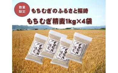 【ふるさと納税】A013 福崎町産 もちむぎ精麦4kg