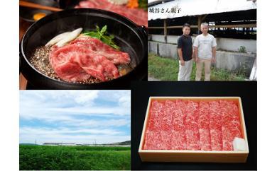 【ふるさと納税】KBS-07 城谷牧場の神戸ビーフ(神戸牛)すきやき・しゃぶしゃぶ用600g