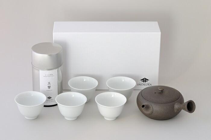 【ふるさと納税】F-05 かぶせ煎茶「玉響」&オリジナル急須セット