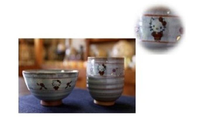 【ふるさと納税】G-03 奈良絵ハローキティ湯呑・茶碗セット