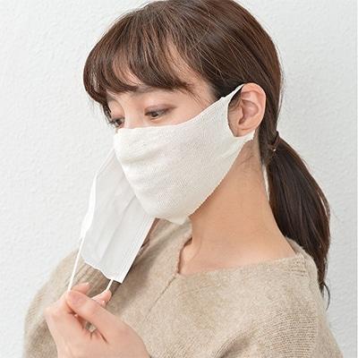 使い捨てマスクや紙マスク 不織布マスクのインナーマスクとしてお使い下さい ふるさと納税 シルク100% インナーマスク オフホワイト 実物 爆安 1113060 3枚 4045-7187×3