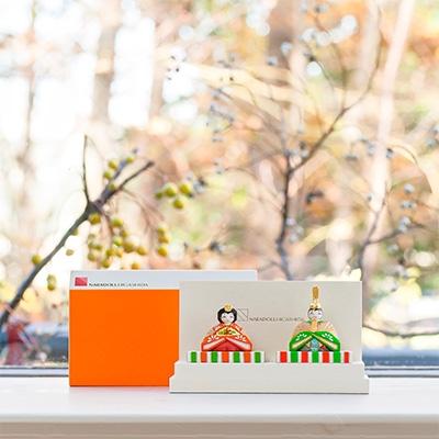 【ふるさと納税】奈良一刀彫 ひいな 赤橙色【1089242】