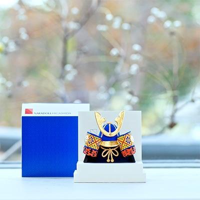 【ふるさと納税】奈良一刀彫 かぶと 群青色【1089244】