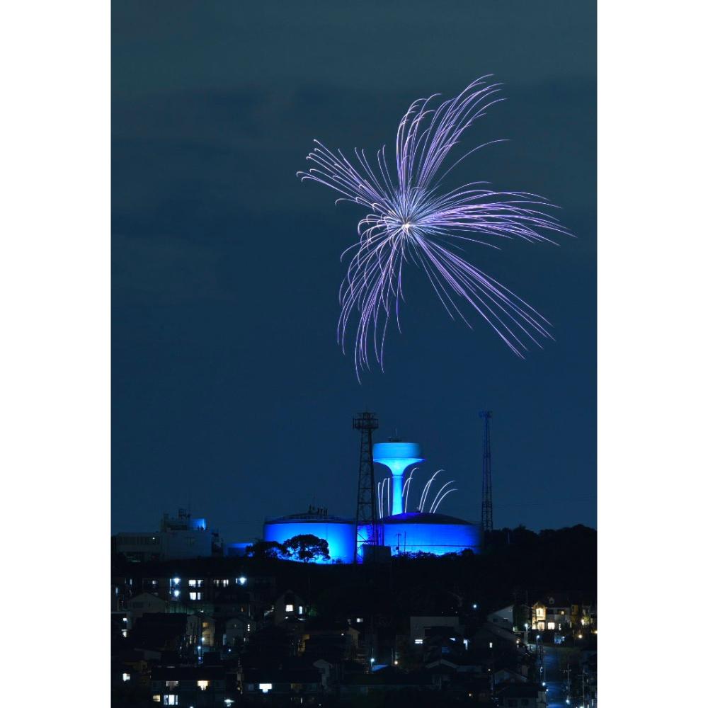 【ふるさと納税】コロナに負けるな!医療従事者の方に感謝の気持ちを表すブルー花火大会