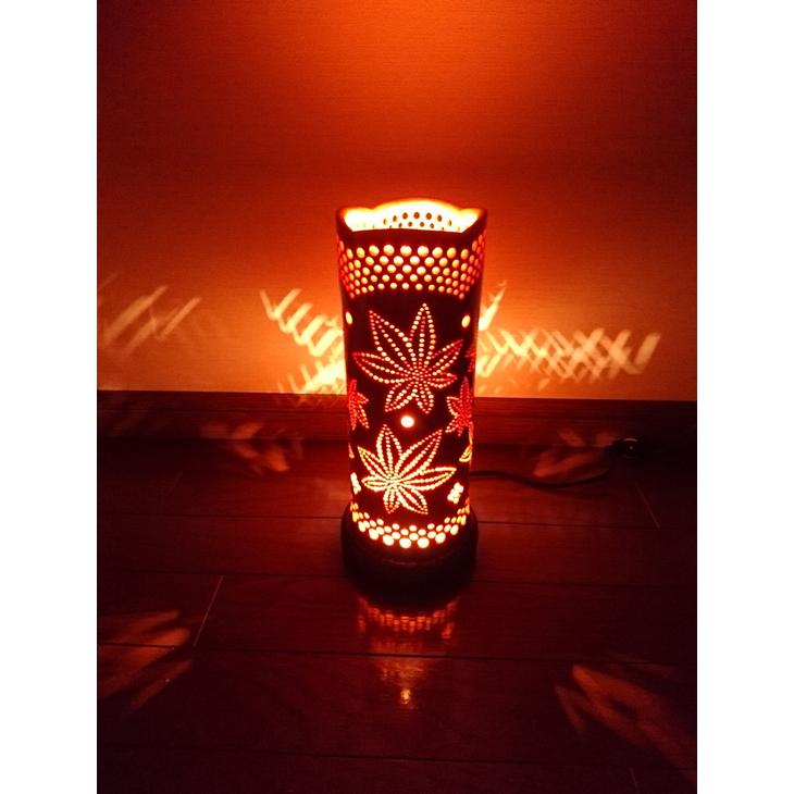 【ふるさと納税】竹あかり カエデD-1(表皮焦がしタイプ) / 行灯 照明 間接照明 天然素材 竹細工