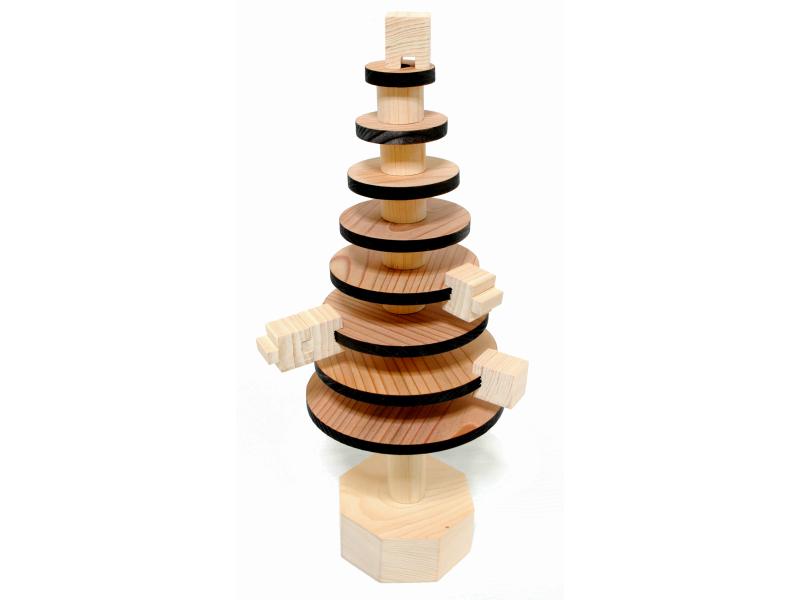 【ふるさと納税】天然素材吉野杉・桧バランスツリー