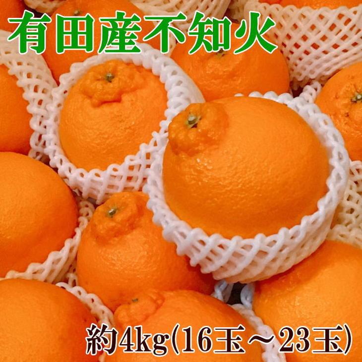 【ふるさと納税】【濃厚】有田の不知火約4kg(16玉~23玉)