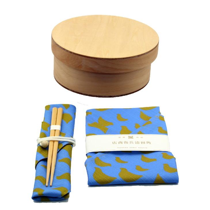 【ふるさと納税】おひつBENTO S NA ✕ あづま袋✕箸·箸袋セット(コトリ)