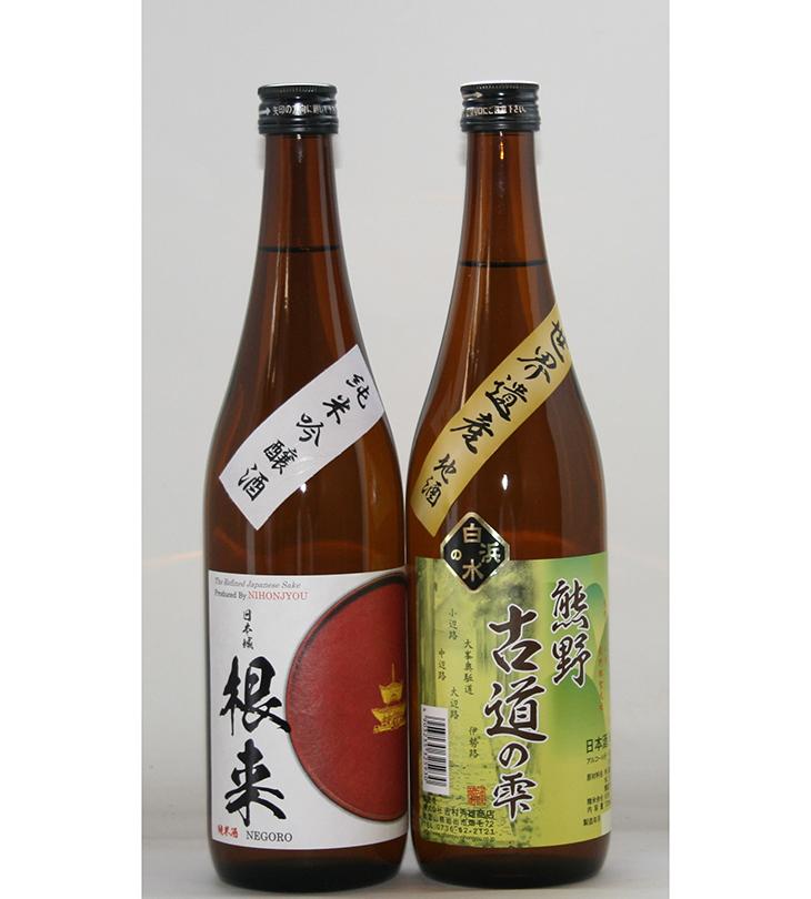 【ふるさと納税】【紀州地酒】純米吟醸酒「根来」720mlと本醸造酒「熊野古道の雫」720mlの2種セット