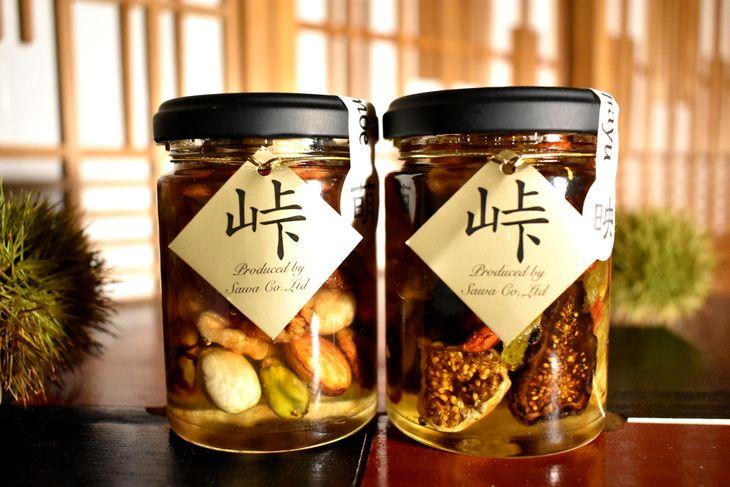 ふるさと納税 ナッツ ドライフルーツの蜂蜜漬 峠プレミアム2種セット 人気の製品 映 HAYU 迅速な対応で商品をお届け致します MOE 萌