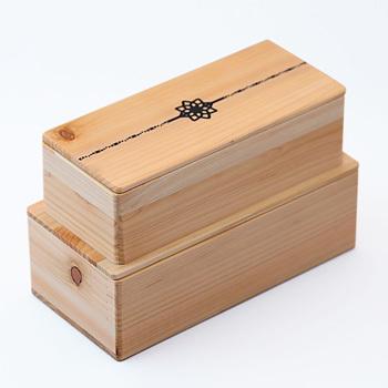 【ふるさと納税】Njeco汎紀州備長炭蒔絵長角二段弁当箱