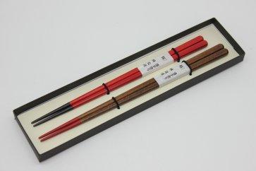 【ふるさと納税】 日展作家 林克彦作 木製 夫婦箸 さくら(手塗りうるし)