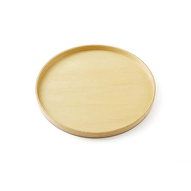 【ふるさと納税】白木30cm丸盆