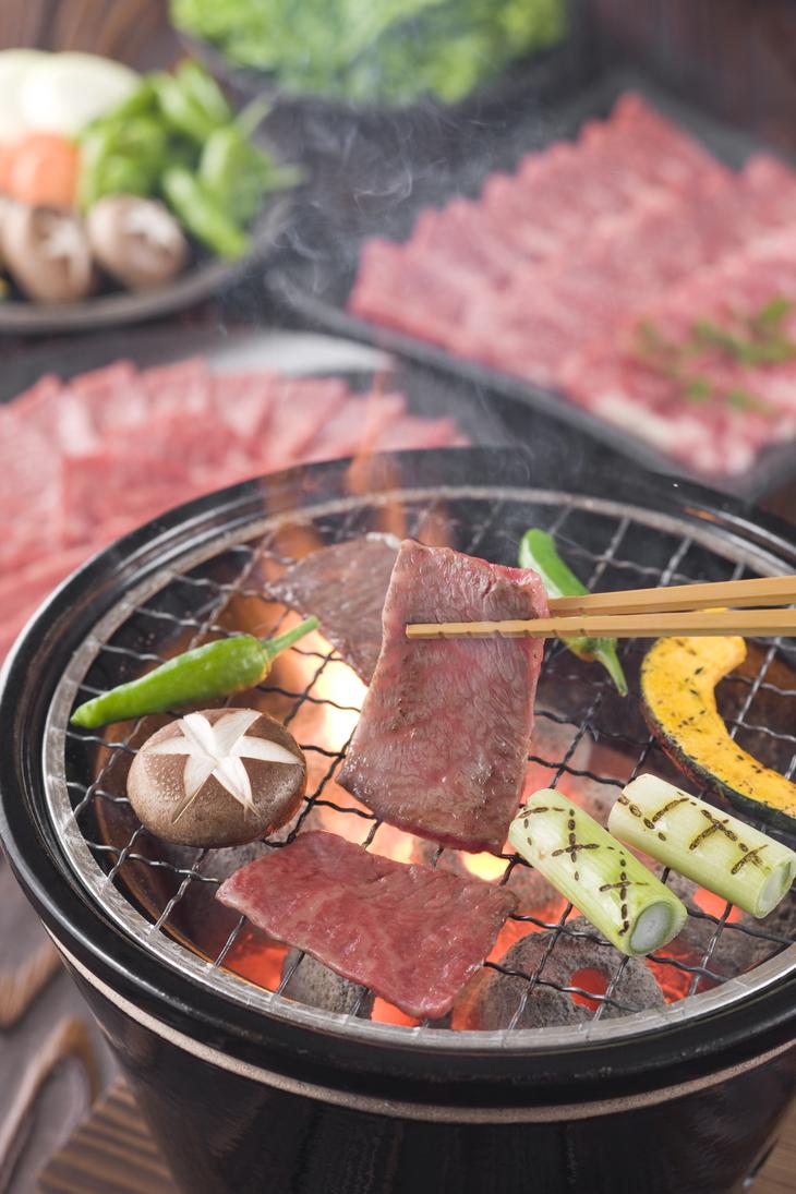 【ふるさと納税】熊野牛 ロース・焼肉 500g(粉山椒付)