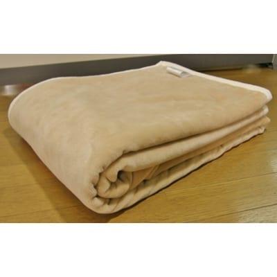 【ふるさと納税】シール織り綿毛布(ベージュ) 米阪パイル織物株式会社【1033688】