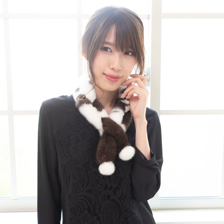 【ふるさと納税】毛皮の宝石 高級SAGAミンク使用 リングマフラー