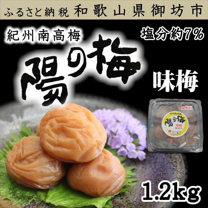 【ふるさと納税】紀州南高梅 味梅(白干し梅)3Lサイズ 1.2kg(塩分7%)