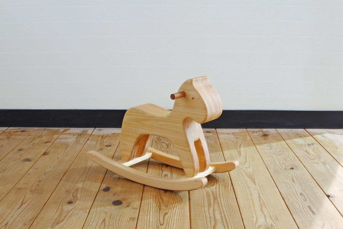大規模セール 新作続 ふるさと納税 木の椅子工房G.WORKSの 紀州ヒノキの木馬