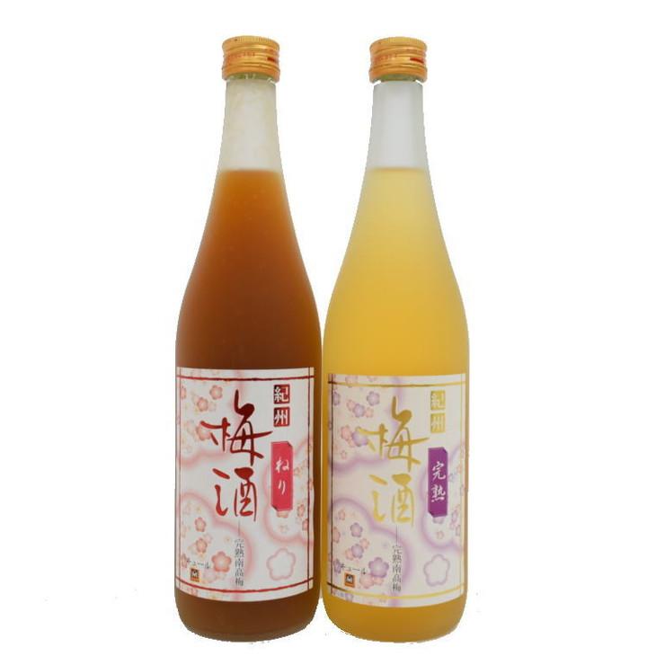 【ふるさと納税】【紀州完熟南高梅使用】濃厚「ねり梅酒」と芳醇「完熟梅酒」各720mlの飲み比べ
