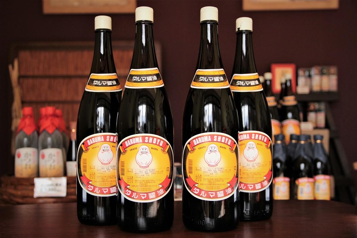 【ふるさと納税】自社醸造の手作り醤油!一升瓶こいくちしょうゆ 4本入り