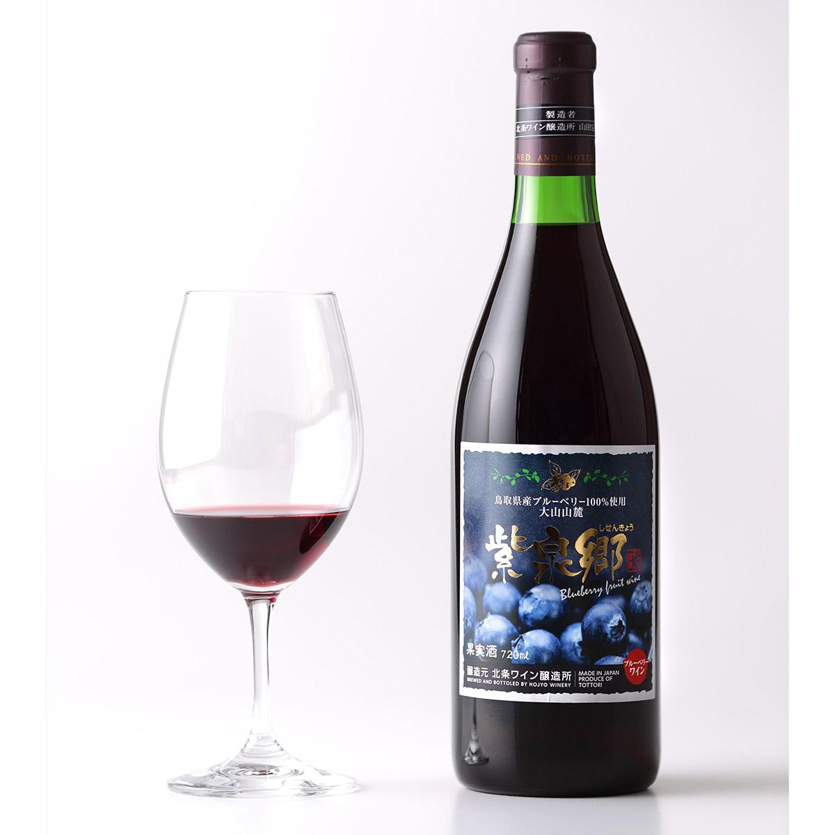 【ふるさと納税】ブルーベリーワイン「紫泉郷」