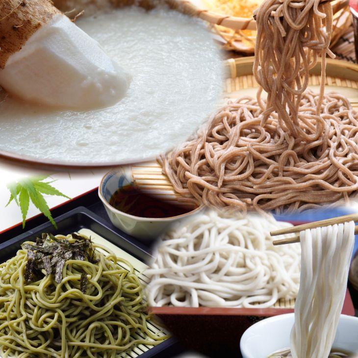 【ふるさと納税】恵みそば+砂丘長芋セット(通年)