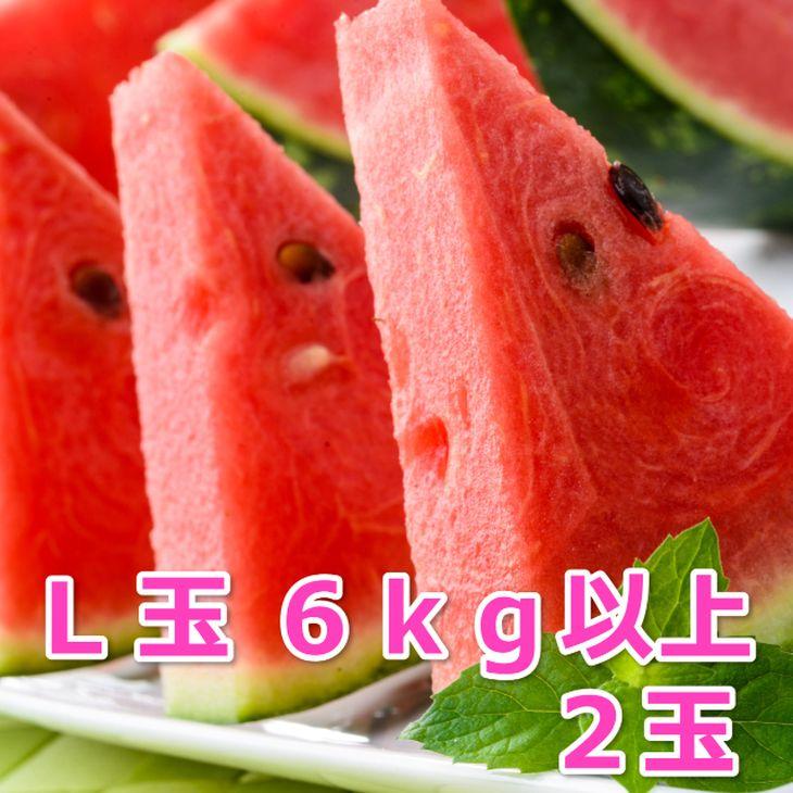 【ふるさと納税】スイカ2玉 6kg以上2玉 ※6月~8月発送予定