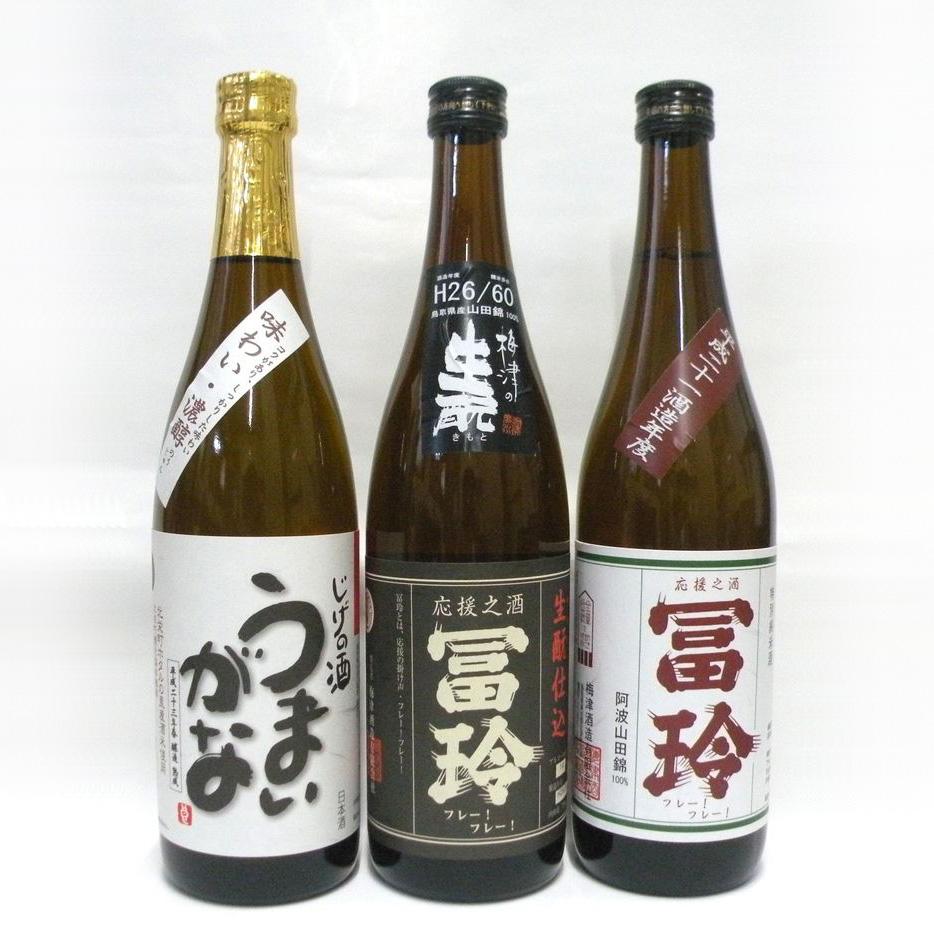 【ふるさと納税】梅津酒造の飲みくらべセットK 日本酒720ml×3本