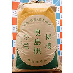 【ふるさと納税】609.浜田市弥栄町産の美味しいお米「秘境奥島根弥栄」こしひかり玄米(30kg)