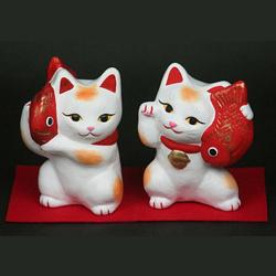 土人形ならではの質感をお楽しみください 送料0円 ふるさと納税 43. 招き猫セット 超特価SALE開催