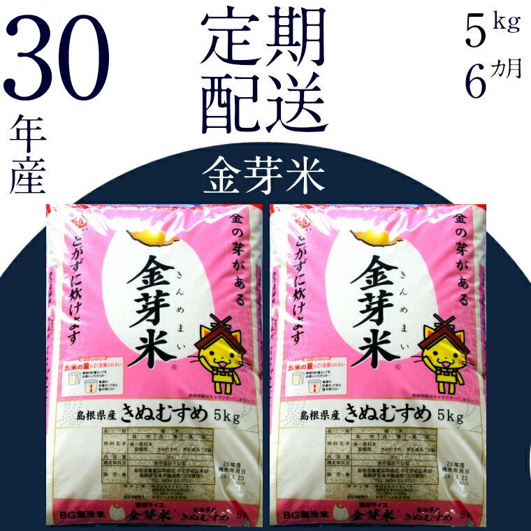 島根県安来市 【ふるさと納税】 BG無洗米 金芽米 [定期] きぬむ...