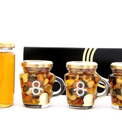 【ふるさと納税】はちみつナッツとはちみつ(4本セット) 【加工食品】