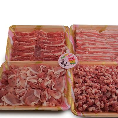 島根県江津市 ふるさと納税 12ヶ月定期便 まる姫ポーク 店 豚肉三昧 約1.6kg バラ 新商品 ロース お肉 定期便 豚肉